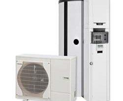 Hybridsystem aus Gas-Brennwertgerät und Wärmepumpe-Hybrid-System TzerraHP von Remeha