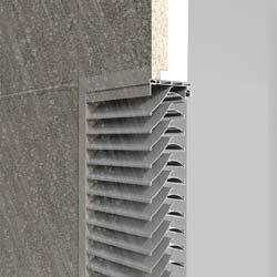 Wasserabweisendes Lüftungsgitter von Renson