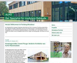 ALHO Systembau GmbH launcht einen Fachblog Modulbauweise