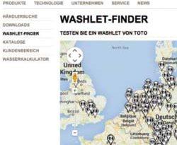 TOTO WASHLET-Finder