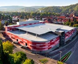 Einkaufszentrum mit Sandsteinoptik in Rotenburg an der Fulda