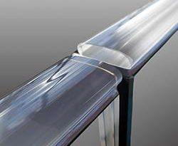 Glaskantenschutz für Ganzglasgeländer