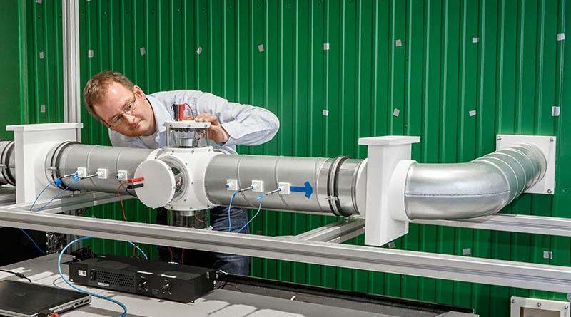 Aktives Schallschutzmodul für einen Lüftungskanal. Foto: Fraunhofer LBF/Raapke