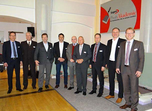 Gastgeber und Referenten des 17. Sopro Planer- und Sachverständigenseminars. Foto: Sopro Bauchemie GmbH