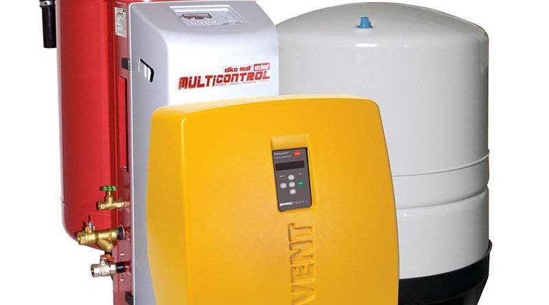 Komponenten von SpiroPress MultiControl – für die zuverlässige Druckhaltung in wassergeführten Heizungs-, Kühl- und Prozessanlagen. Bild: Spirotech BV
