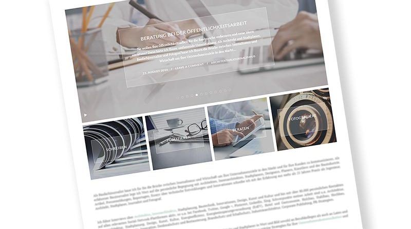 Unternehmensseite im Internet