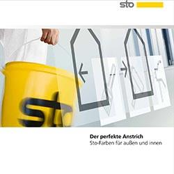 Mit einer Broschüre stellt der Baustoffspezialist Sto sein komplettes Farbenprogramm vor: Außen- und Innenfarben, gegliedert nach Einsatzfeldern und Funktionen