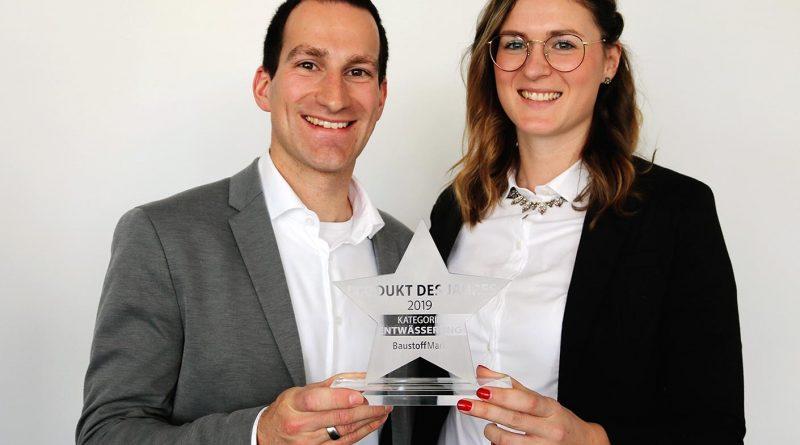 Sita Marketingleiterin Katharina Posteher und Christian Behr vom Sita Produktmanagement mit der Auszeichnung.