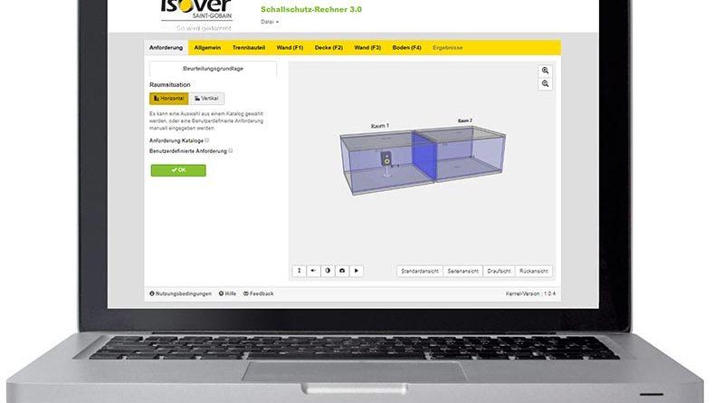 Mit dem neuen ISOVER Schallschutz-Rechner bietet der Dämmstoffspezialist ein innovatives Berechnungsprogramm zur Prognose der Luft- und Trittschalldämmung. Foto: SAINT-GOBAIN ISOVER G+H