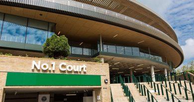 Der generalsanierte No.1 Court des Wimbledonkomplexes mit 13 verschiedenen Fassadentypen und einem verfahrbaren Membrandach von seele. Foto: seele