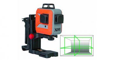 Der selbstnivellierende Multi-Linienlaser X-Liner 3D green ist eine Weiterentwicklung des X-Liner 360.2 green und ergänzt damit die Produktserie der grünen Laser-Vermessungsgeräte. Quelle: Nedo GmbH & Co. KG