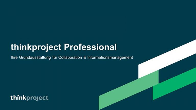Die Projektplattform tpCDE - thinkproject Professional