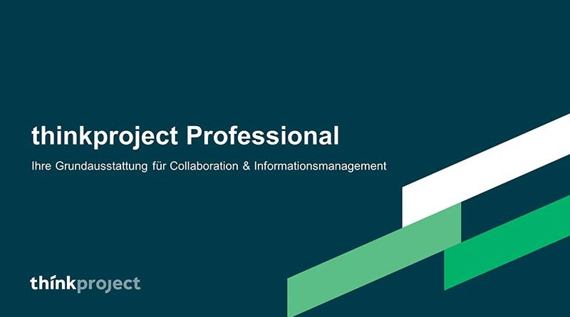 Die Projektplattform tpCDE - thinkproject Professional