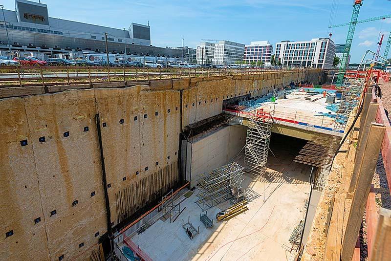 Das Tunnelbauwerk entstand überwiegend in offener Bauweise. Foto: Deutsche Bahn AG