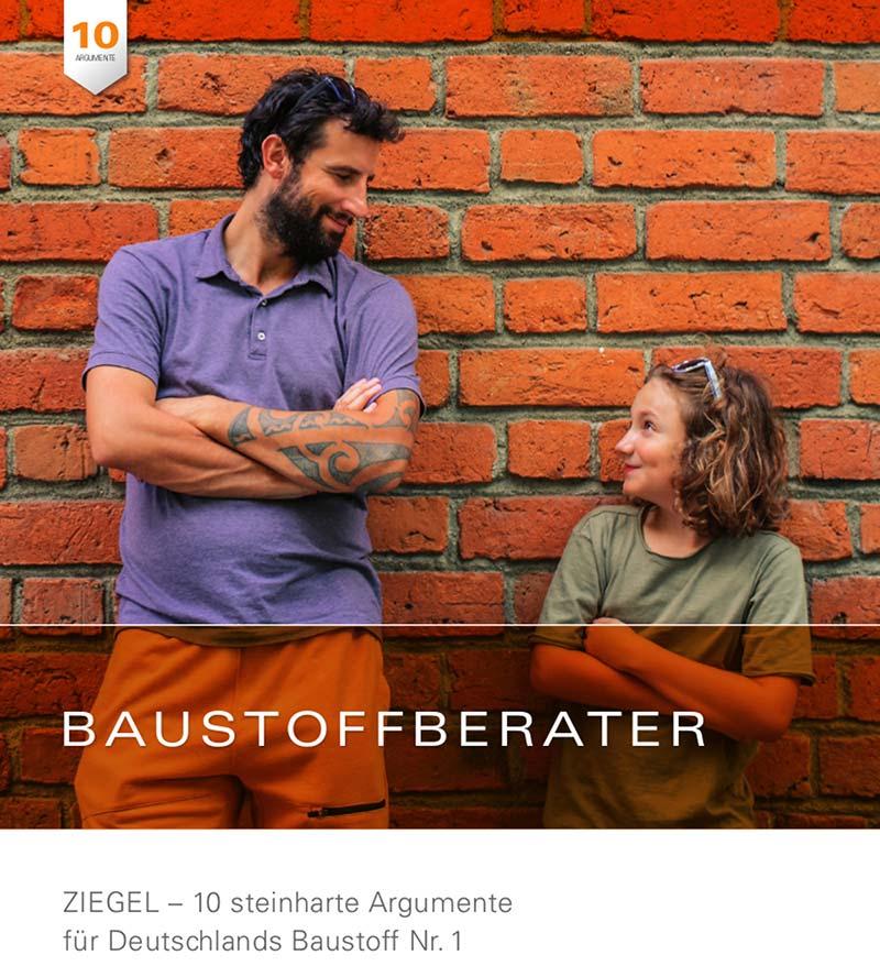 """Bestandteil des Digitalen Bauberaters sind auch weitere Informationsangebote – wie etwa die eingebundene Online-Broschüre """"Baustoffberater"""". Diese liefert anschauliches Faktenwissen rund um den Bau mit Mauerziegeln. Bild: UNIPOR, München"""