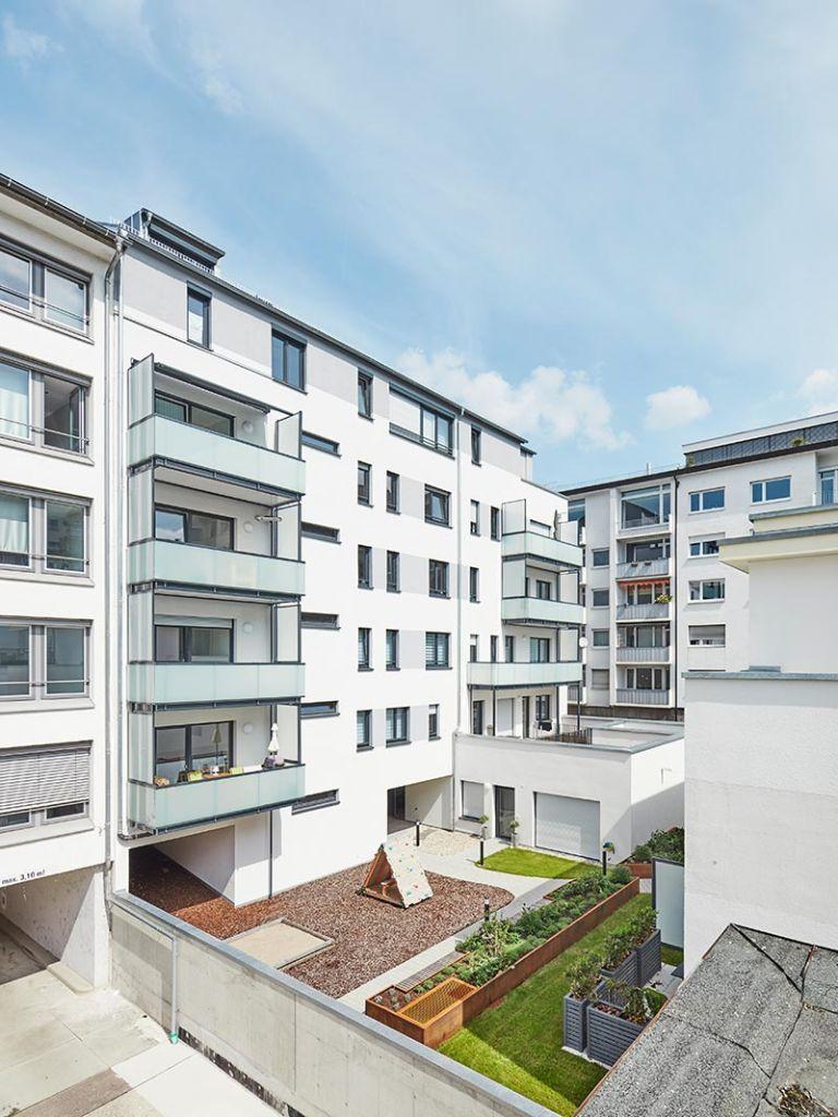 Urban Living Stuttgart, Innenhof nach dem Umbau