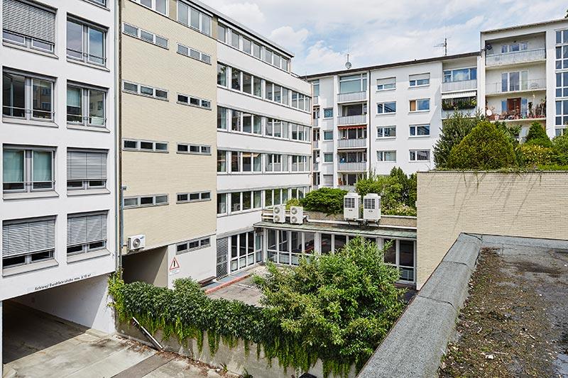 Urban Living Stuttgart, Innenhof vor dem Umbau