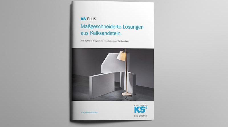 Die Broschüre zum großformatigen Bausystem KS-PLUS ist ab sofort kostenlos verfügbar. Bild: Thomas Popinger / KS-Original