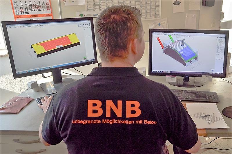 Sondermaße als Produktionsstandard: Bei BNB entstanden täglich rund 20 Fertigteilefür das U-Bahnprojekt. Fotos: BNB