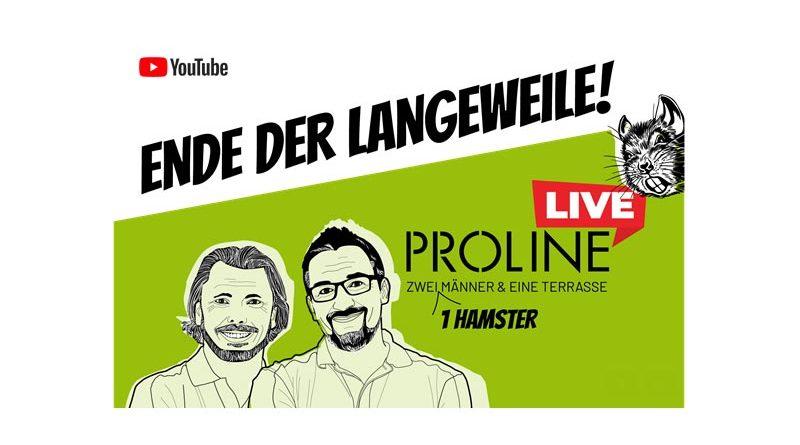Dass Webinare nicht langweilig sein müssen, beweist das von der Kommunikationsagentur dasHolthaus produzierte und konzeptionierte Webinar PROLINE Live