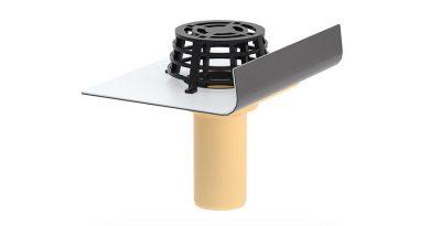 Für den sicheren Wandanschluss sorgt die Kunststoff-Wunschanschlussmanschette.