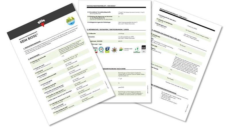 Nachhaltigkeitsdatenblatt für KEIM Biosil. Foto: KEIMFARBEN