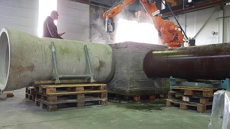 Vielfältige neue Anwendungsmöglichkeiten haben sich bereits ergeben – darunter der passgenaue Bau von Schächten für unterirdische Versorgungen und vieles mehr. Foto: Copyright 2020 CyBe Construction