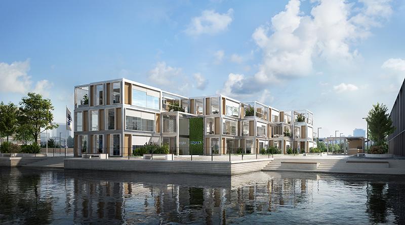 Algeco erstellt ästhetisch anspruchsvolle Gebäude in Modulbauweise. Auch in der digitalen Aussta
