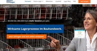 Bildschirmkopie paulus-lager.de