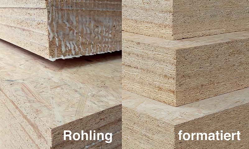 Produktion der MagnumBoard-Elemente bei MMD MagnumBoard Manufaktur Deutschland – Rohling und formatiert. Bildnachweis: MMD
