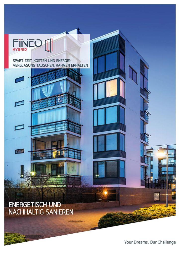 """Die neue Broschüre zu """"Fineo Hybrid"""" zeigt anschaulich die verschiedenen Standard-Aufbauten des innovativen Mix aus Isolierglas und Vakuumglas. Zudem veranschaulicht sie das einfache Vorgehen beim Glastausch. Foto: Fineo"""